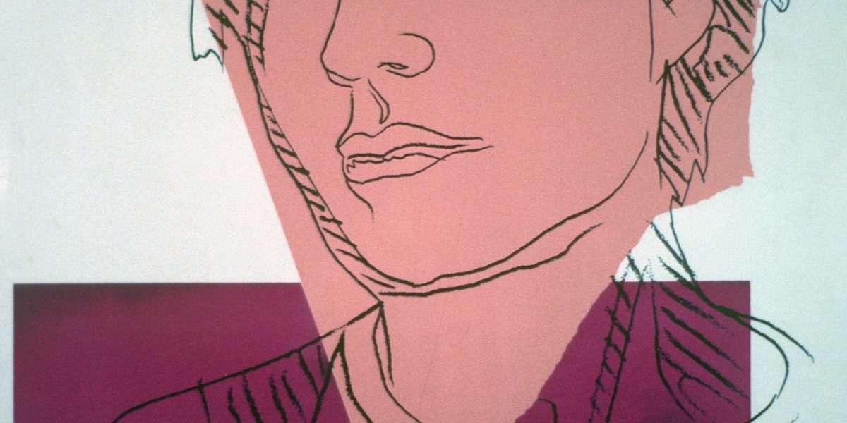 Andy Warhol - Selvportræt  -  Andy Warhol - 2848B