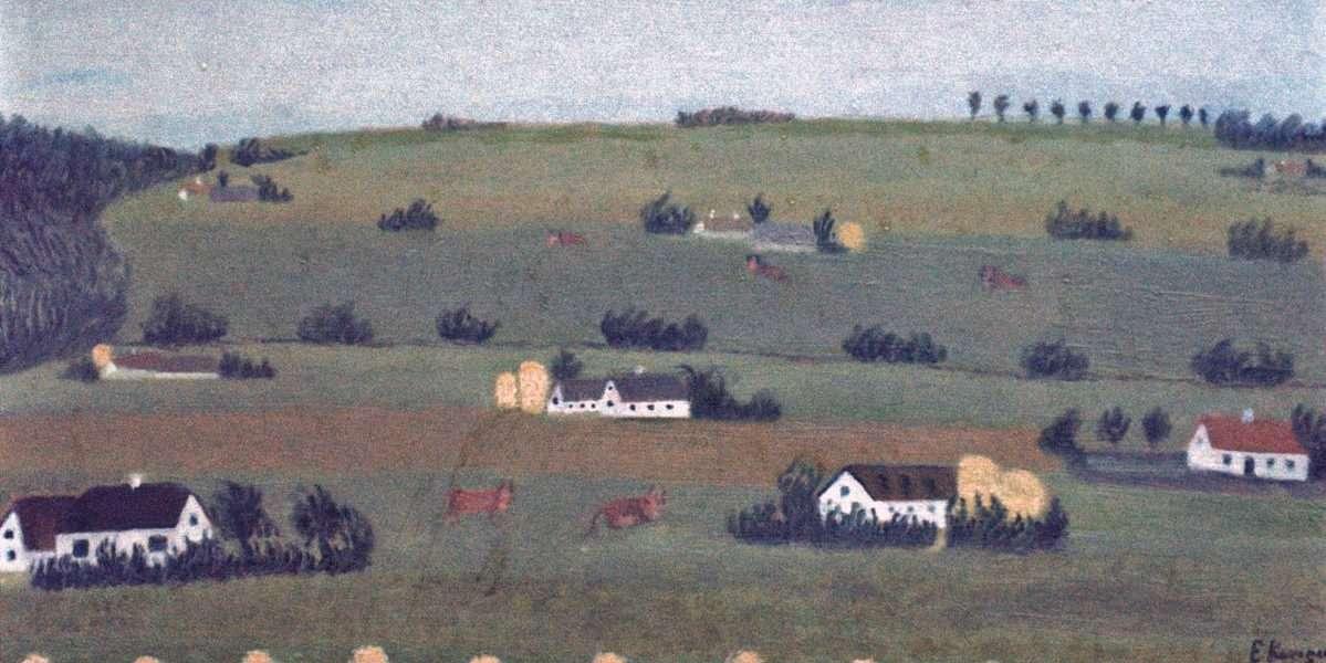 Ejnar Kongsted - Bakkedrag  ved Alsted Skov  -  Ejnar Kongsted - 1932A