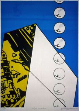 Frithioff Johansen - City + aeroplane  -  Frithioff Johansen - 1299B