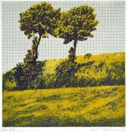 Frithioff Johansen - Træer fra mit regnehæfte 1  -  Frithioff Johansen - 2367B