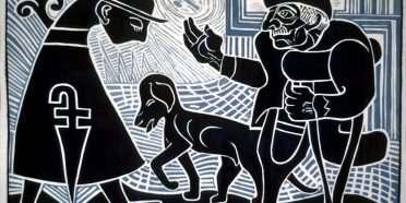 Spansk tigger og munk  –  Henry Heerup 1907-1993 – 1233B
