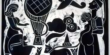 Ballonopstigning  –  Henry Heerup 1907-1993 – 1235B