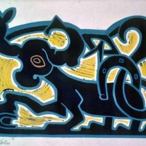 Henry Heerup 1907-1993 - Lykkekoen  -  Henry Heerup 1907-1993 - 1239B