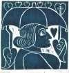 Paraply-madonna  –  Henry Heerup 1907-1993 – 774B