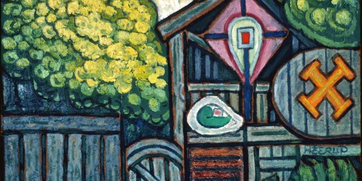 Henry Heerup 1907-1993 - Kunstnerens have  -  Henry Heerup 1907-1993 - 845A