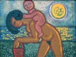 Henry Heerup - Kvinde med barn på ryggen  -  Henry Heerup - 765A