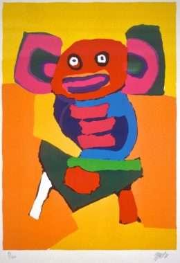 Karel Appel 1921-2006 - Kompostition  -  Karel Appel 1921-2006 - 1858B