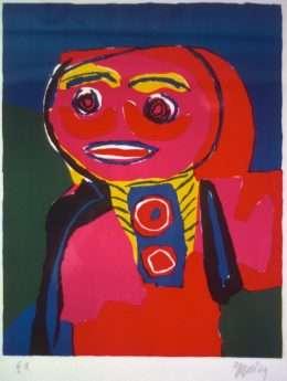 Karel Appel 1921-2006 - Grædende pige  -  Karel Appel 1921-2006 - 1890B