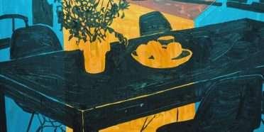 Spisebord med blomster  –  Kaspar Bonnén – 4493A
