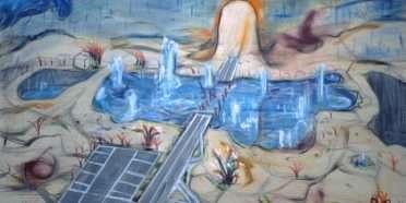Sø i ørken  –  Ole Sporring – 4580A