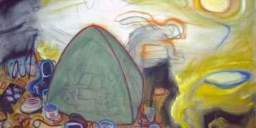 Ud af lukket telt  –  Ole Sporring – 4584A