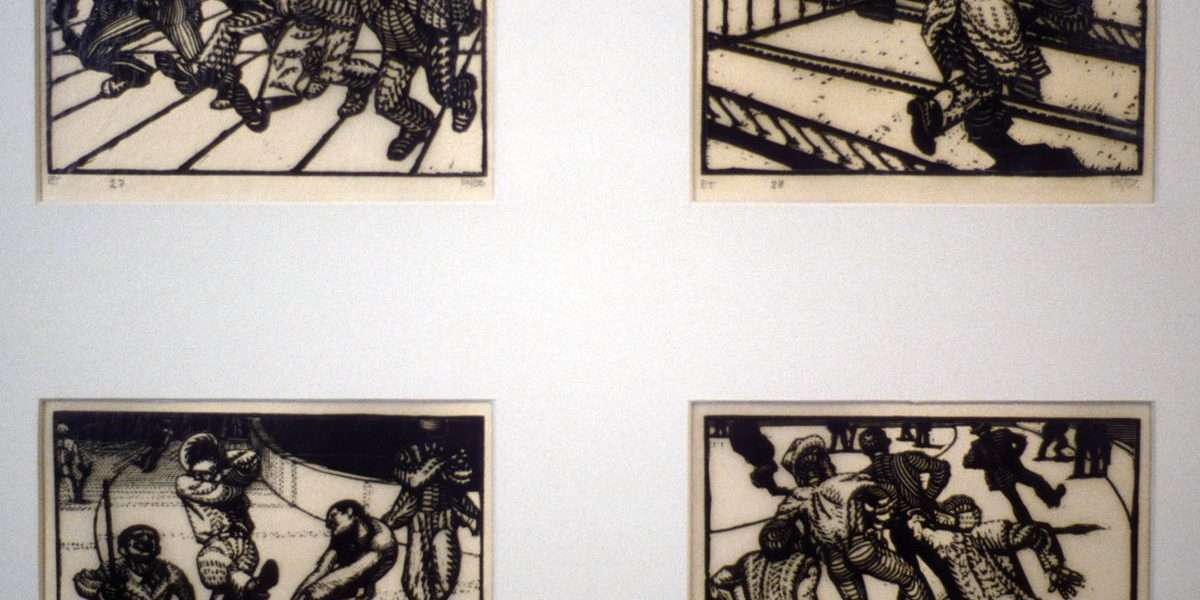 Palle Nielsen 1920-2000 - De truede/Flugt/Narredans/Narredans  -  Palle Nielsen 1920-2000 - 585B/586B/589B/590B