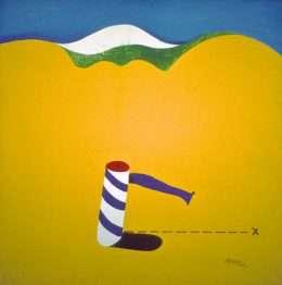 Per Arnoldi - Rulle i gult landskab  -  Per Arnoldi - 3628A