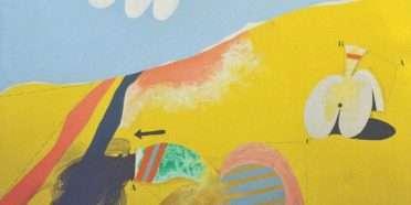 Gult landskab med objekter  –  Per Arnoldi – 4293A