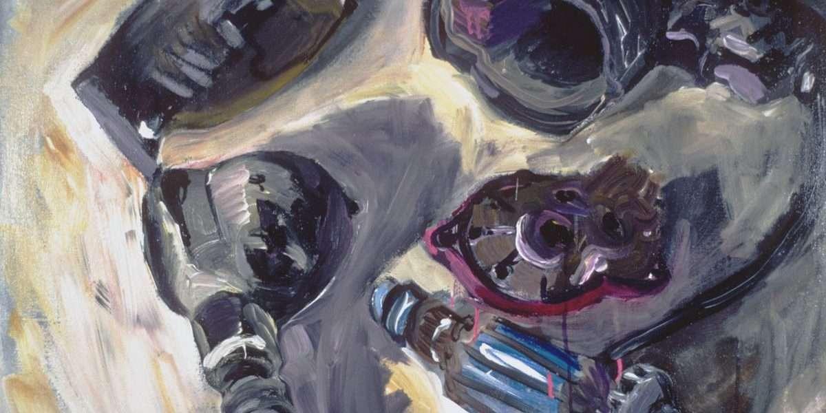 5 dele af en elektrisk boremaskine - Peter Carlsen - 3140A - Kunst På Arbejde