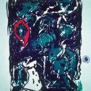 Pierre Alechinsky - Den sjældent lykkelige  -  Pierre Alechinsky - 1730B