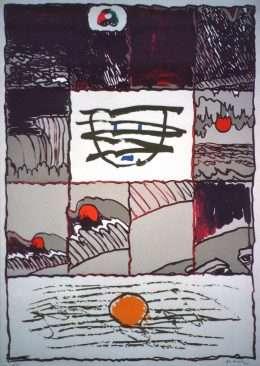 Pierre Alechinsky - Komposition - Pierre Alechinsky - 3211B