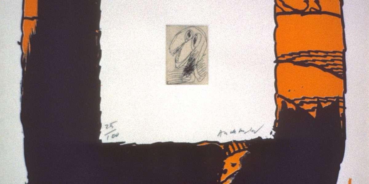 Pierre Alechinsky - Komposition  -  Pierre Alechinsky - 3212B