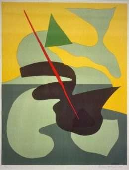 Richard Mortensen 1910-1993 - Komposition  -  Richard Mortensen 1910-1993 - 1619B