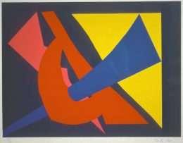 Richard Mortensen 1910-1993 - Komposition  -  Richard Mortensen 1910-1993 - 1968B