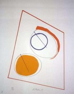 Richard Mortensen 1910-1993 - Komposition II  -  Richard Mortensen 1910-1993 - 1973B