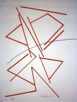 Richard Mortensen 1910-1993 - Komposition IX  -  Richard Mortensen 1910-1993 - 1974B
