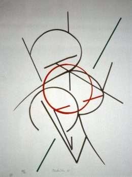 Richard Mortensen 1910-1993 - Komposition  -  Richard Mortensen 1910-1993 - 1977B