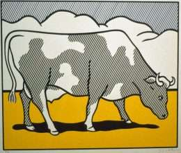 Roy Lichtenstein - Cow going abstract  -  Roy Lichtenstein - 4238B