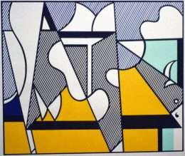 Roy Lichtenstein - Cow going abstract  -  Roy Lichtenstein - 4239B