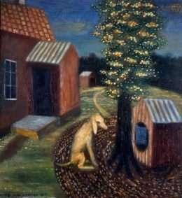 Seppo Mattinen - Hund ved hundehus  -  Seppo Mattinen - 3730A