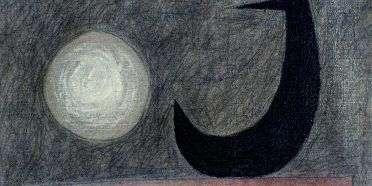 Måne og fugl  –  Sven Dalsgaard 1914-1999 – 2107A