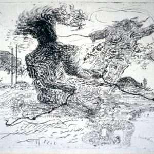 Svend Wiig-Hansen - Figur i landskab  -  Svend Wiig-Hansen - 1230B