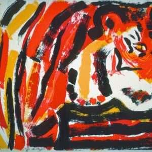 Uffe Christoffersen - Rød Tiger  -  Uffe Christoffersen - 3190B