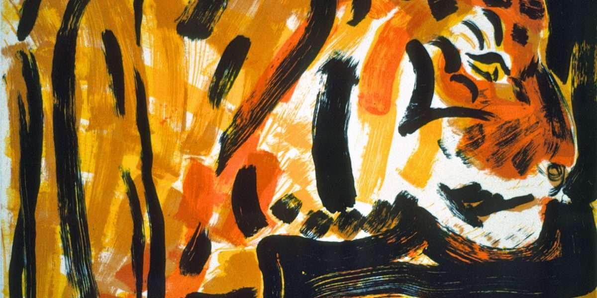 UffeChristoffersen - Gul Tiger  -  UffeChristoffersen - 3189B
