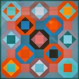 Victor Vasarely - Geometrisk Komposition  -  Victor Vasarely - 2454B