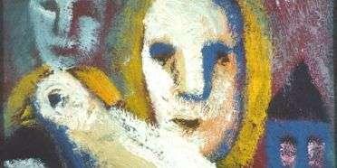 Maske med fugl  –  William Skotte Olsen – 3699A