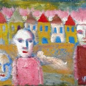William Skotte Olsen - Ansigter og huse  -  William Skotte Olsen - 3724A