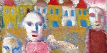 Ansigter og huse  –  William Skotte Olsen – 3724A