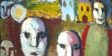 Huse og ansigter  –  William Skotte Olsen – 3725A