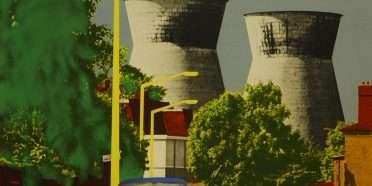 """Liliane Lijn – Kernekraftværker"""" 1971 – 5028B"""